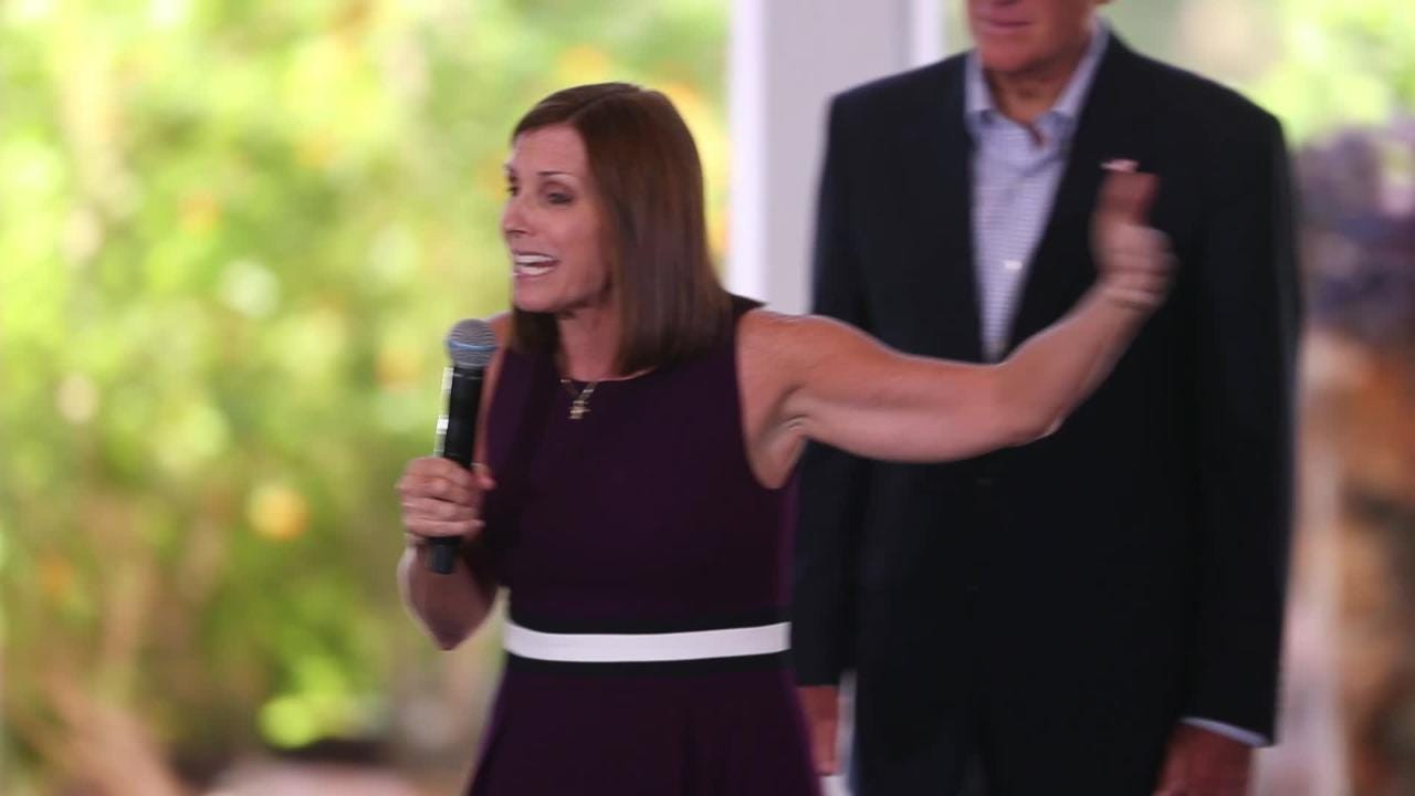 Mitt Romney, Gov. Doug Ducey rally for Martha McSally