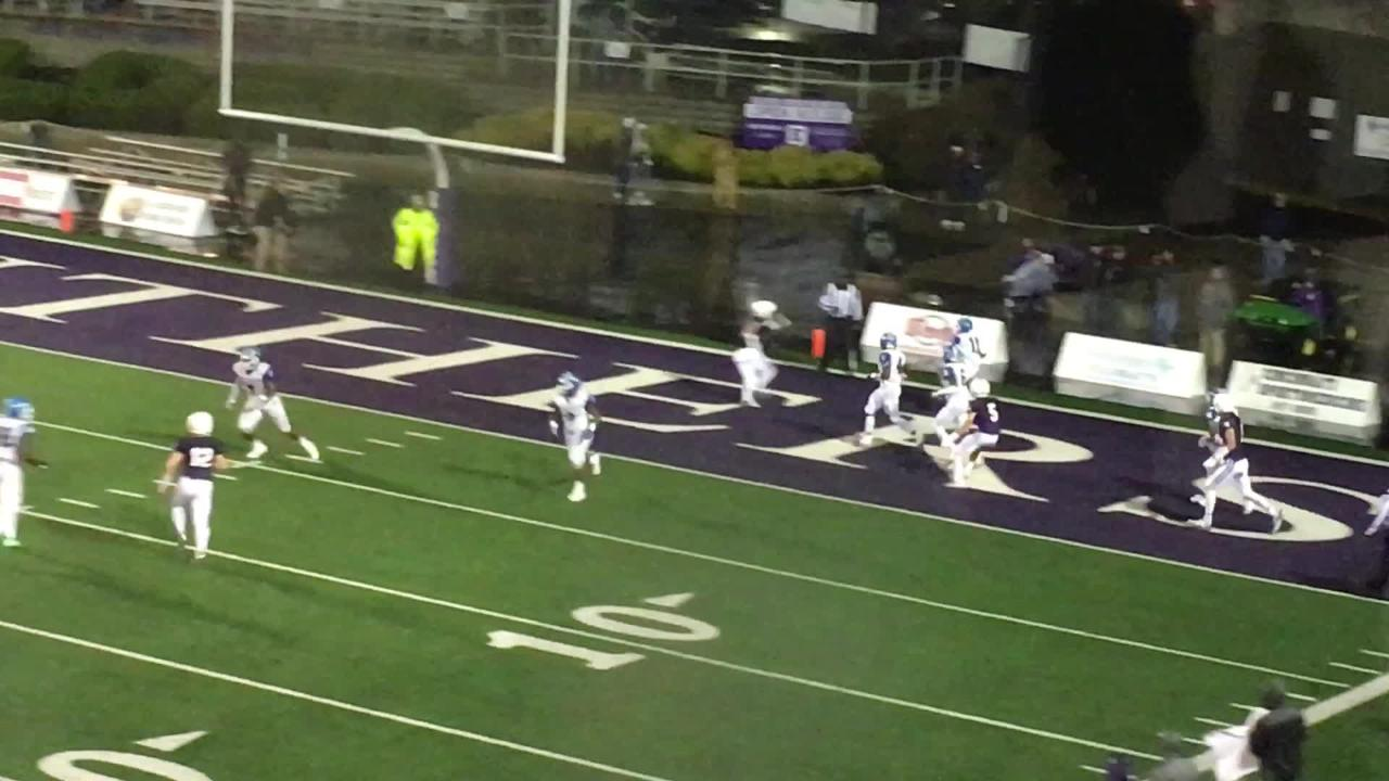 Tyquan Fleming INT in endzone for Winton Woods stopping Elder drive