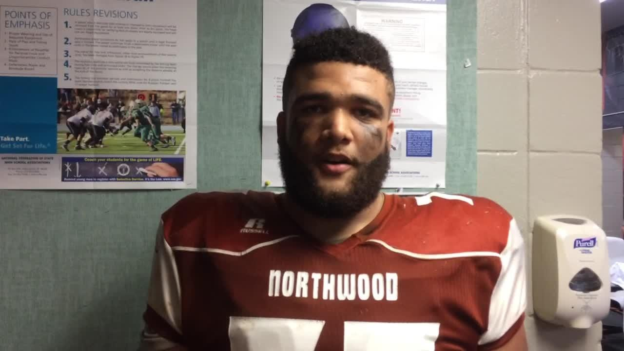 Corey Marshall talks about Northwood's 47-0 win over Huntington.