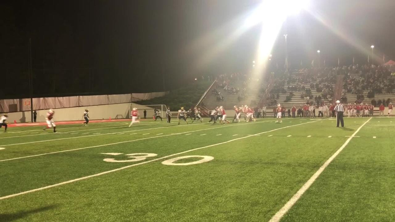 Tioga touchdown runs and an interception were among highlights while Waverly's Scott Woodring caught two TDs in Tigers' 42-19 win Oct. 12, 2018.