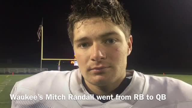Waukee's Mitch Randall switched from running back to quarterback two years ago as a freshman