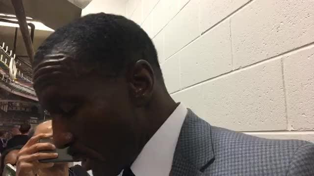 Pistons coach Dwane Casey wraps up the preseason after defeating the Cavs in East Lansing, Oct. 12, 2018.
