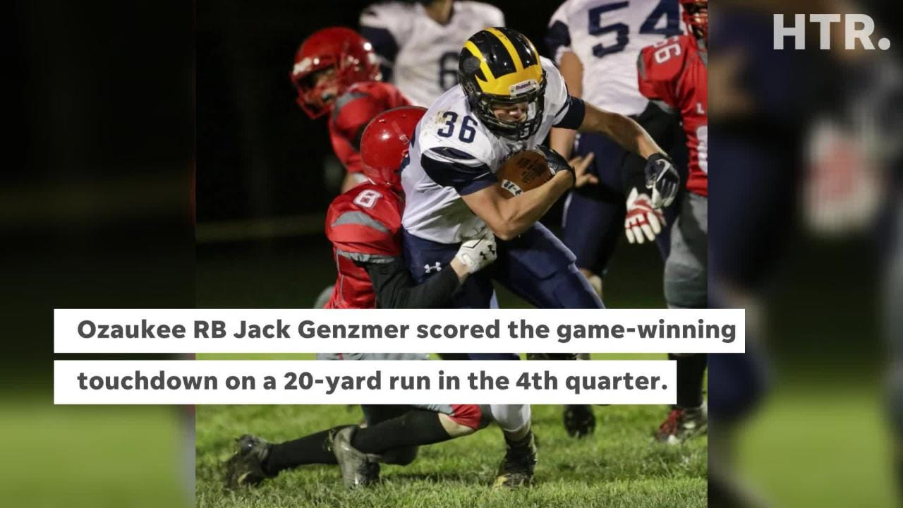 Ozaukee prevailed in the Week 9 matchup against Manitowoc Lutheran 14-7.