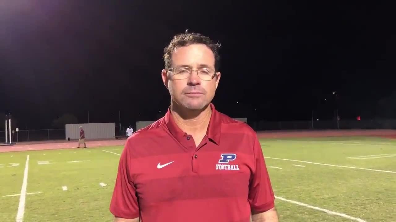 Perry coach Preston Jones following the team's win over Brophy