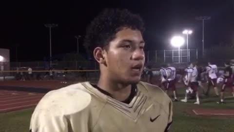 Desert Vista's freshman running back Devon Grubbs talks about his five touchdown game against Boulder Creek.