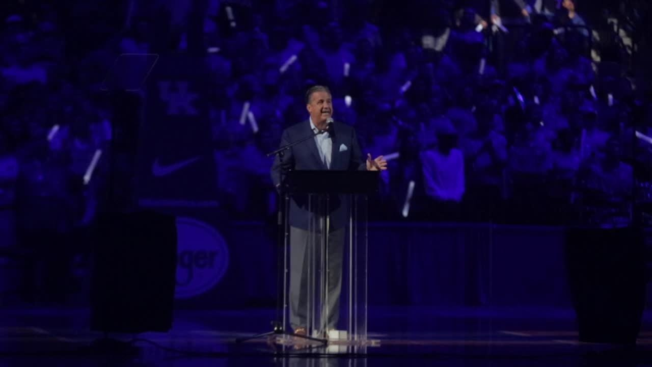 Kentucky's Calipari mentions a few former great coaches and the fans were not happy Pitino made the list.