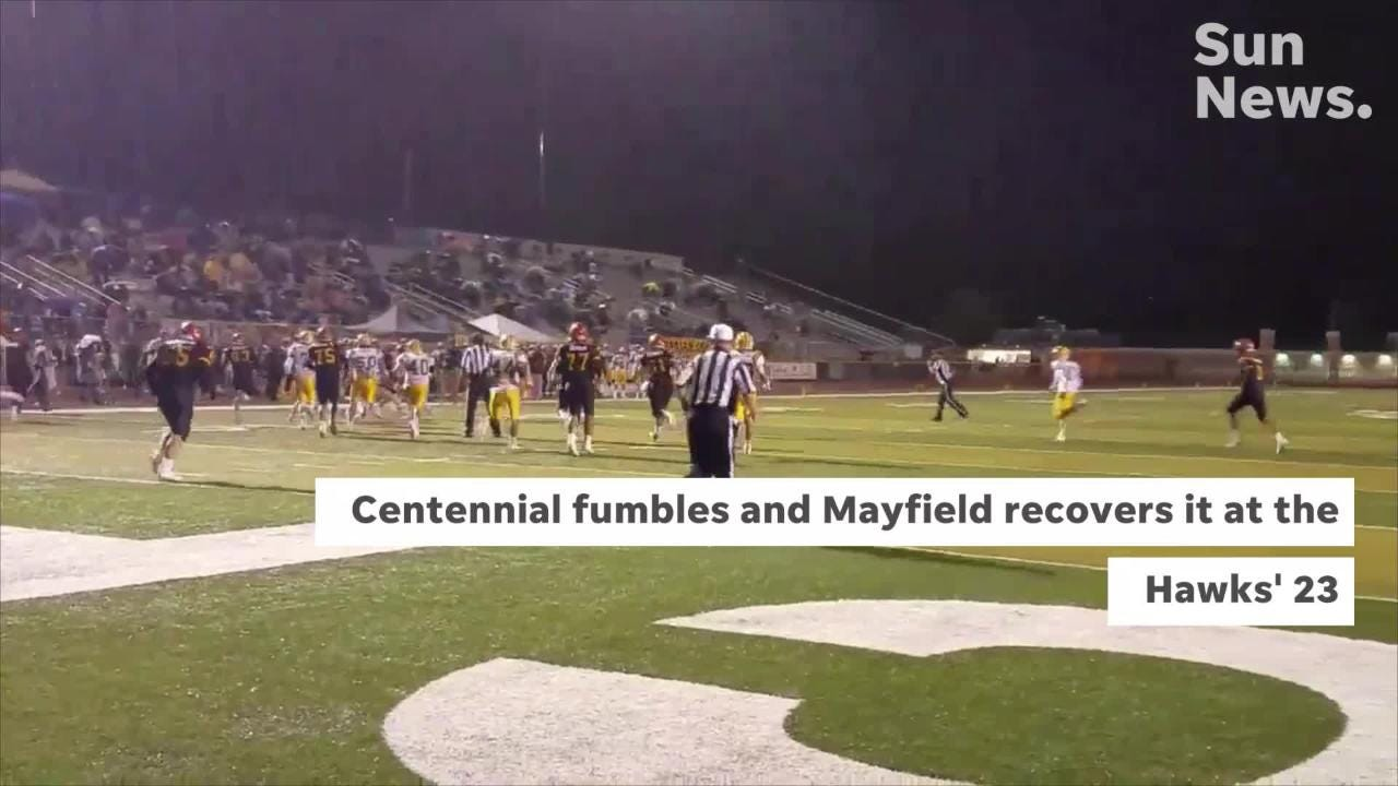 Centennial beat Mayfield 13-0 Friday night to improve to 8-0 on the season.