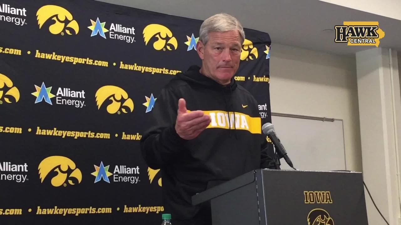 Kirk Ferentz likes what he's seeing from Iowa's senior class