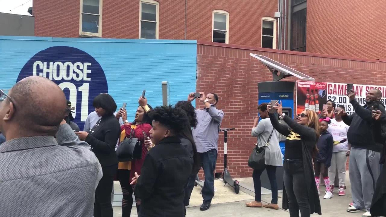 The former publisher of the New Tri-State Defender was honored with a street dedication outside the newspaper's office on Saturday. Smith died last year at age 45.