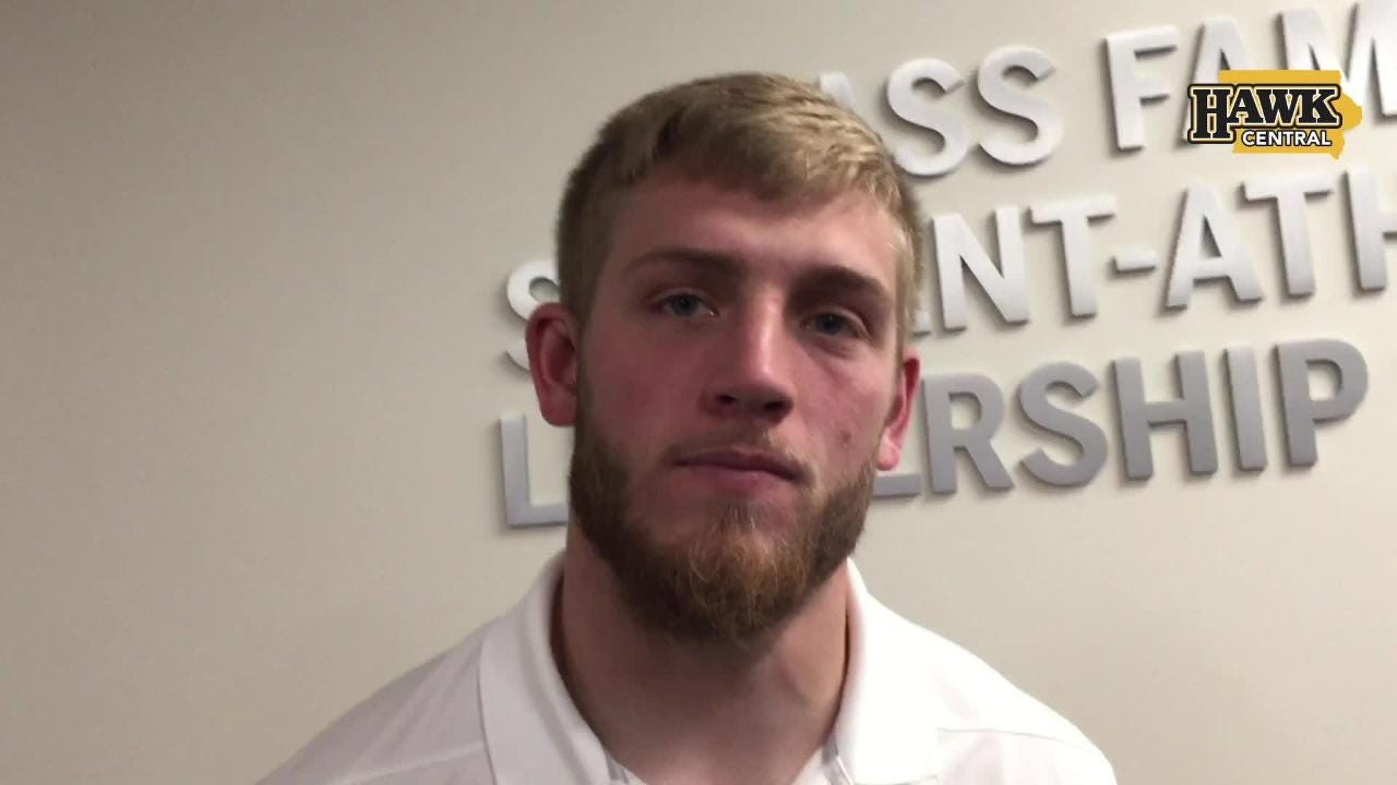 Iowa fifth-year senior safety Jake Gervase had one of the Hawkeyes' two interceptions in a 42-16 win against Indiana.