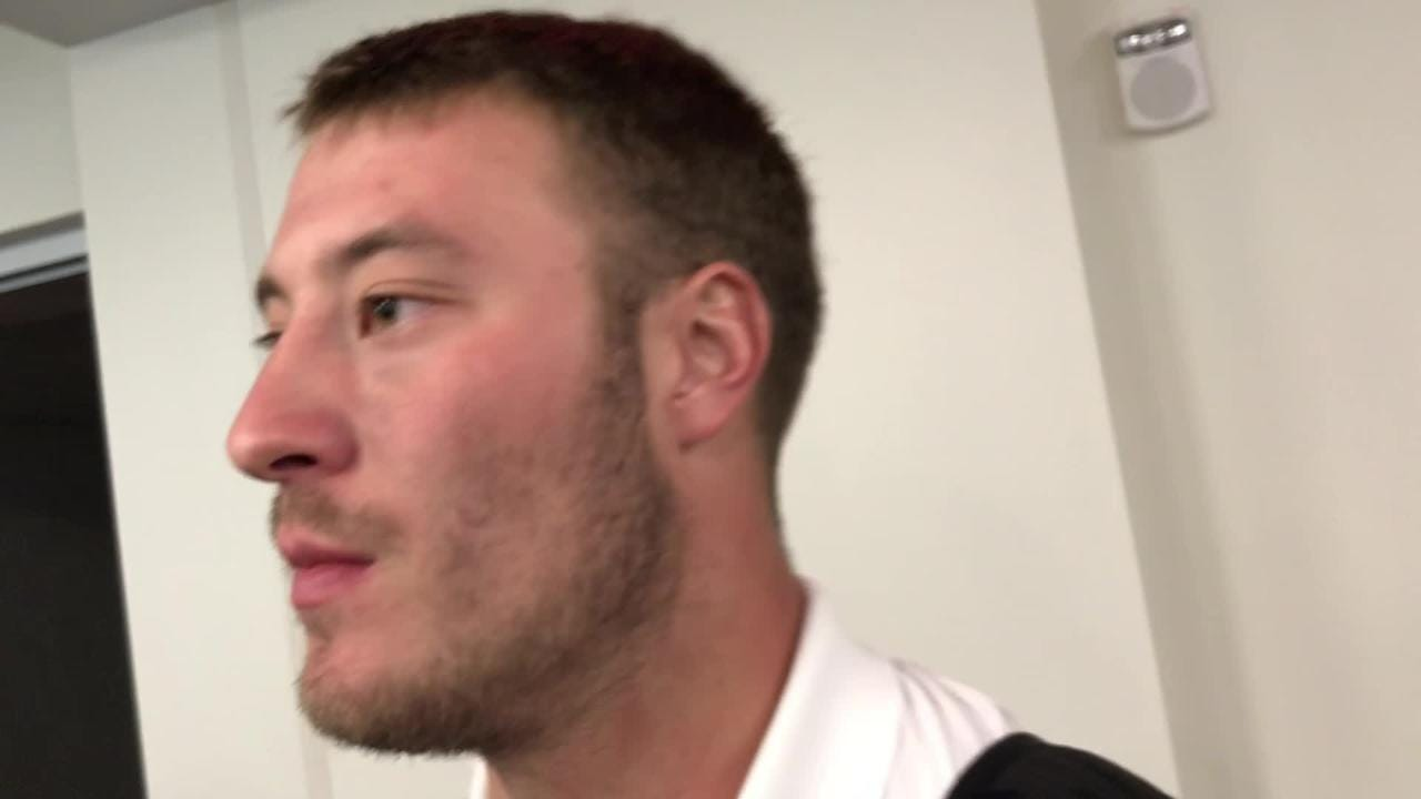 Iowa linebacker Kristian Welch liked the key plays his defense made
