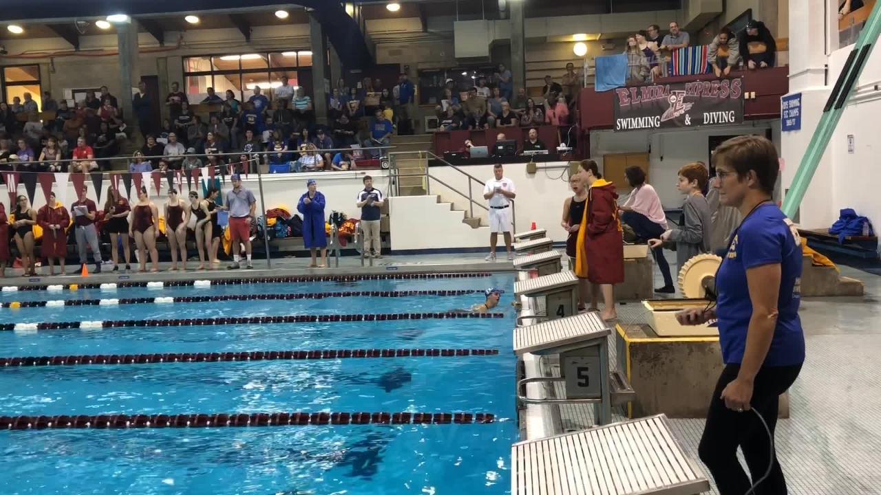 Video: Elmira girls swimming invitational winners include Verkleeren, Pierce, Ithaca relay