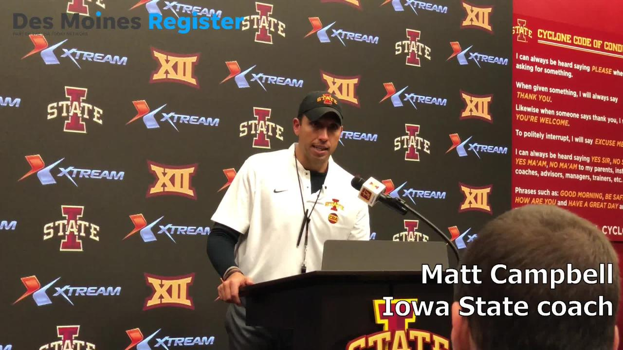 Matt Campbell, the Iowa State football coach, opened his postgame press conference on Saturday by talking about the crowd inside Jack Trice Stadium.