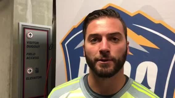 Reno 1868 FC goalkeeper Matt Bersano talks about the win Saturday night over OC.