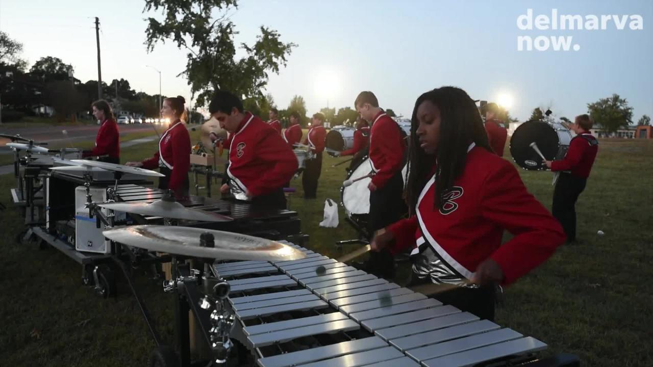The 2018 Delmarvacade of Bands brought 13 regional high schools together at Wicomico County Stadium on Oct. 13, 2018.