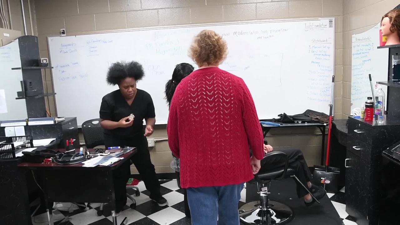 """Charlene Shelton is one of TCAT Nashville's student support specialists. """"You have to let them know you care,"""" she says."""