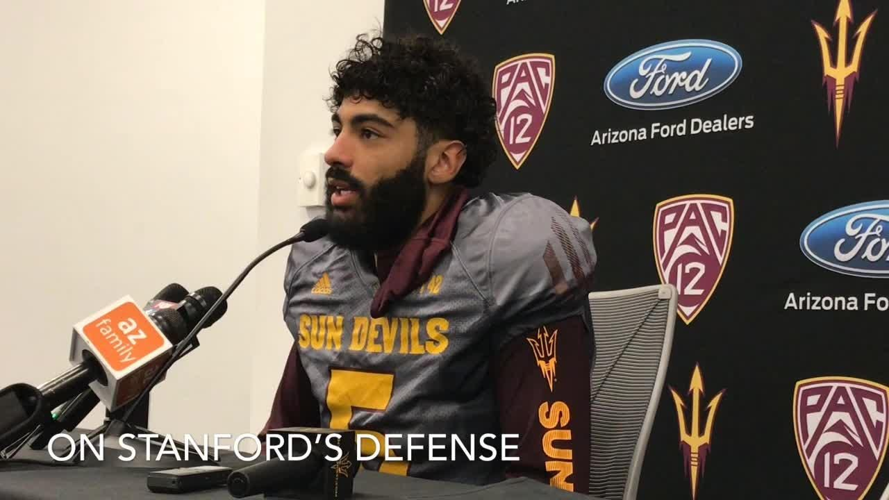 ASU QB Manny Wilkins on his health coming off bye going into second half of season.