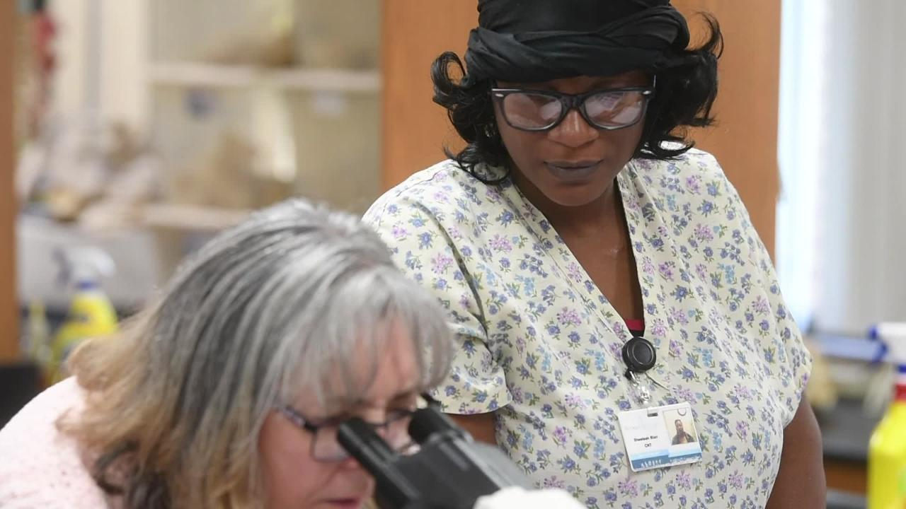Sheeteah Blair, 38, has returned to Nashville State Community College to get her nursing degree through Tennessee Reconnect.