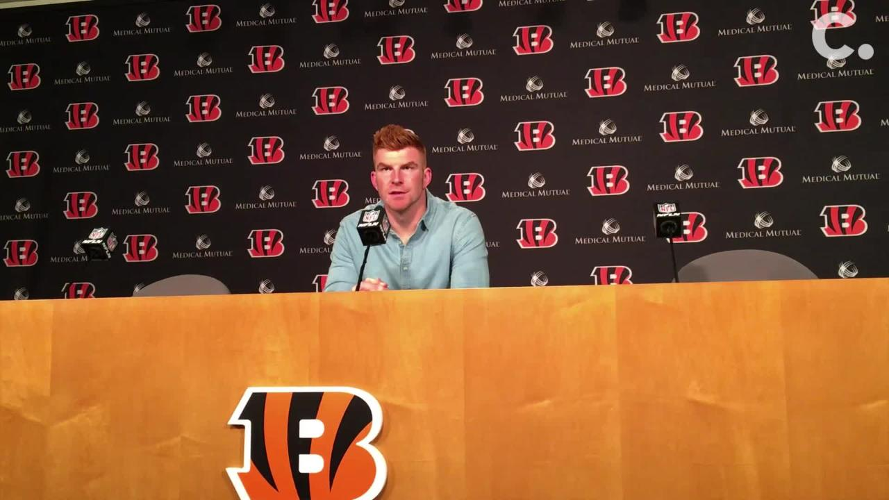Andy Dalton and Tyler Boyd talk about the Bengals' 28-21 loss to the Pittsburgh Steelers on Sunday, Oct. 14, 2018