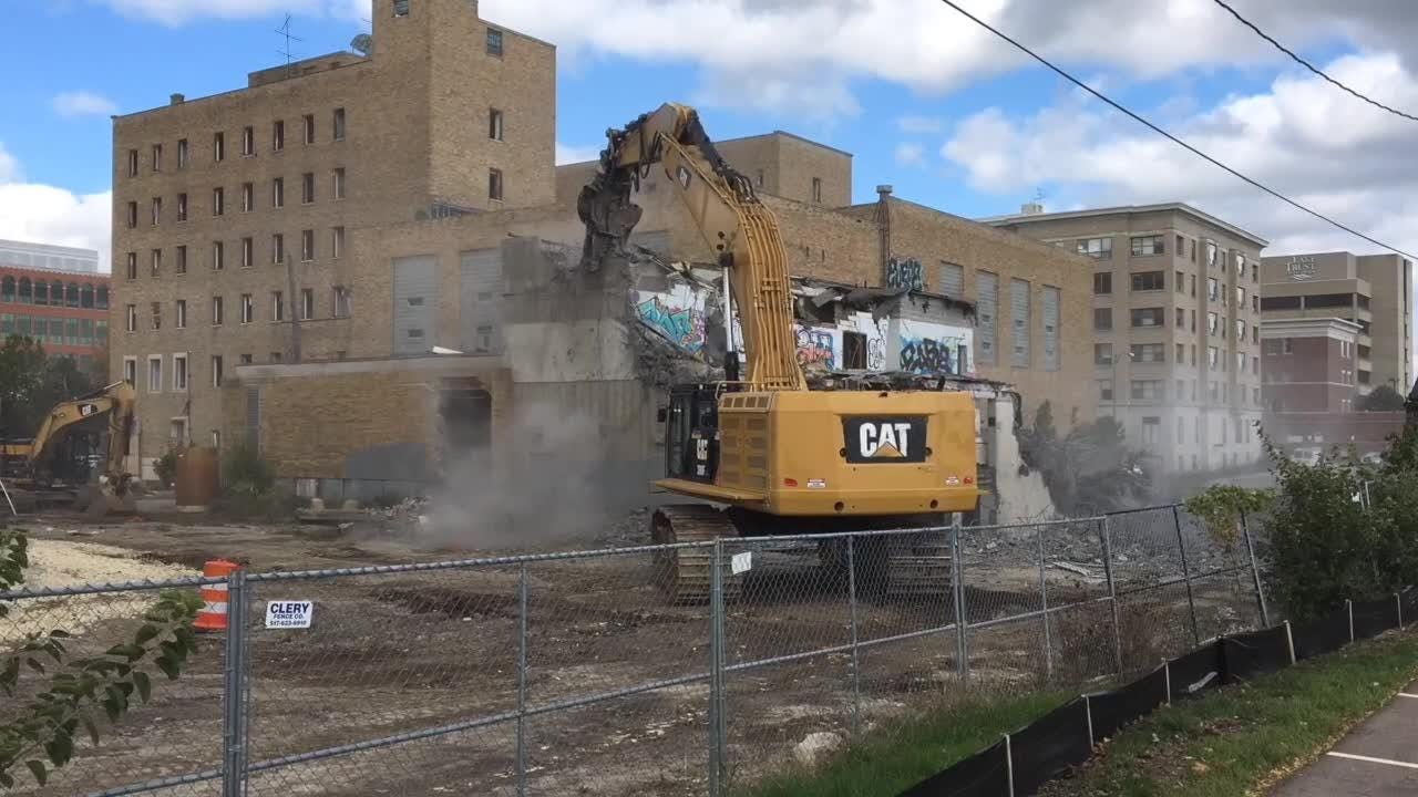 Demolition of former downtown YMCA underway