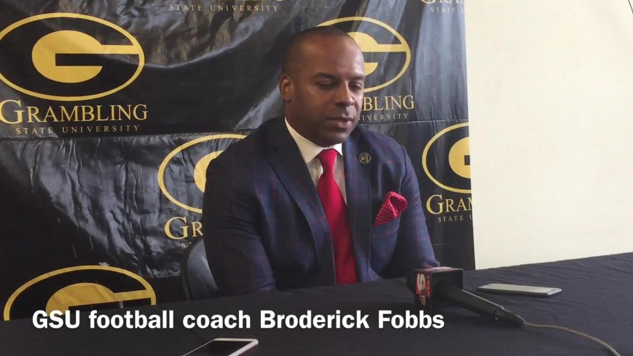 Grambling State head football coach Broderick Fobbs details his team's mindset heading into rivalry matchup at Alcorn State Saturday.
