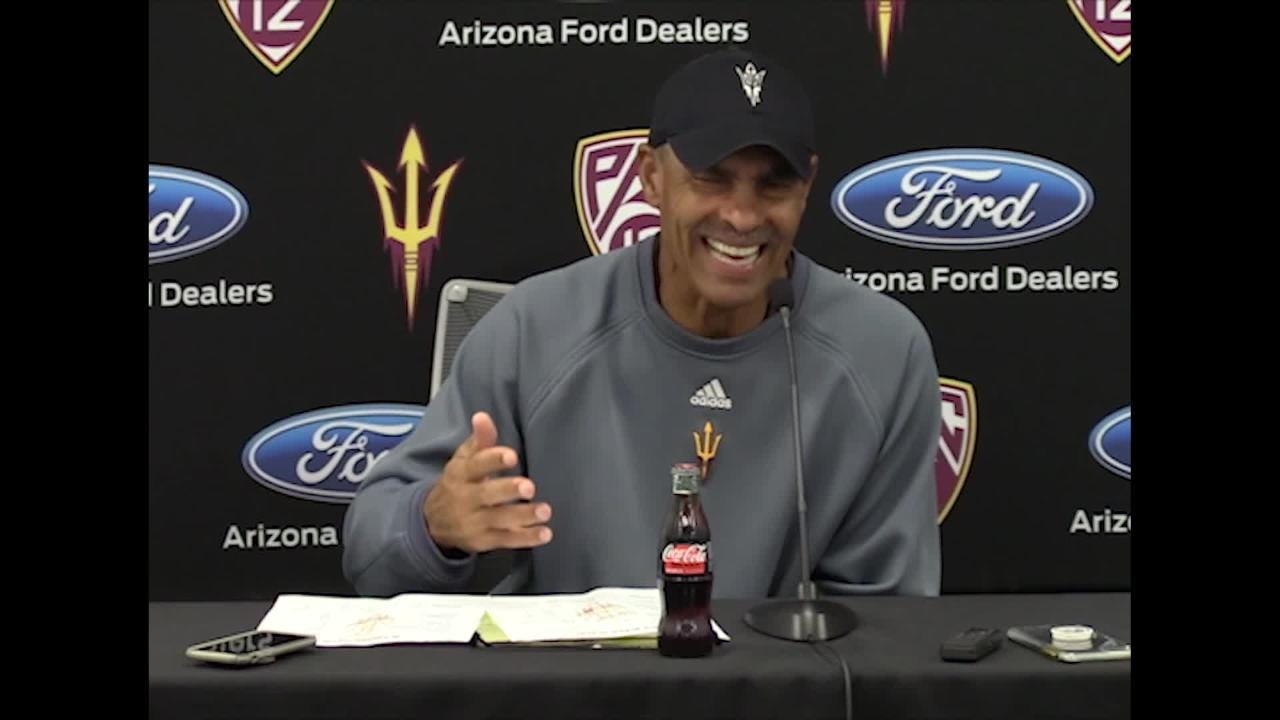 ASU football coach Herm Edwards discusses his team's play in third quarters.