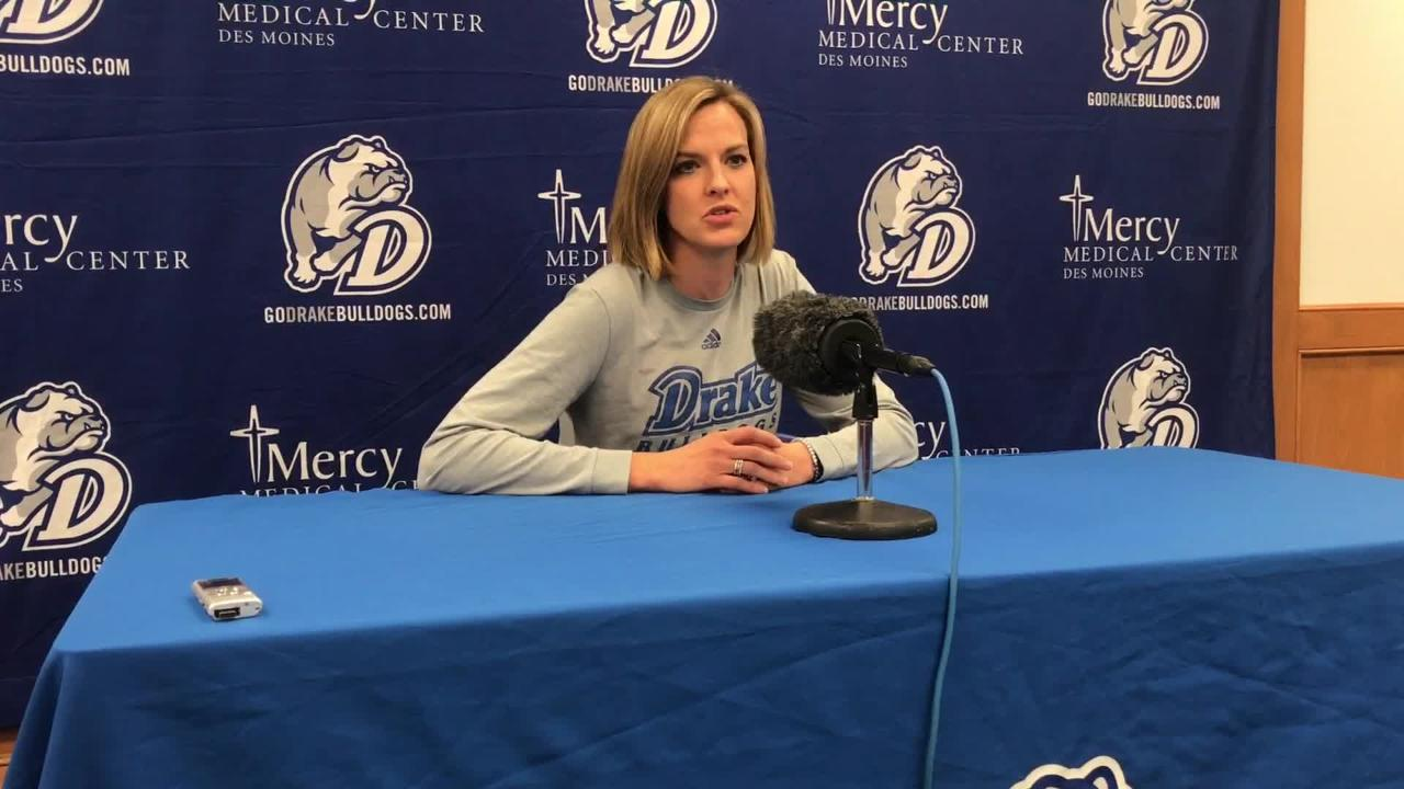 Drake coach Jennie Baranczyk talks about the upcoming basketball season
