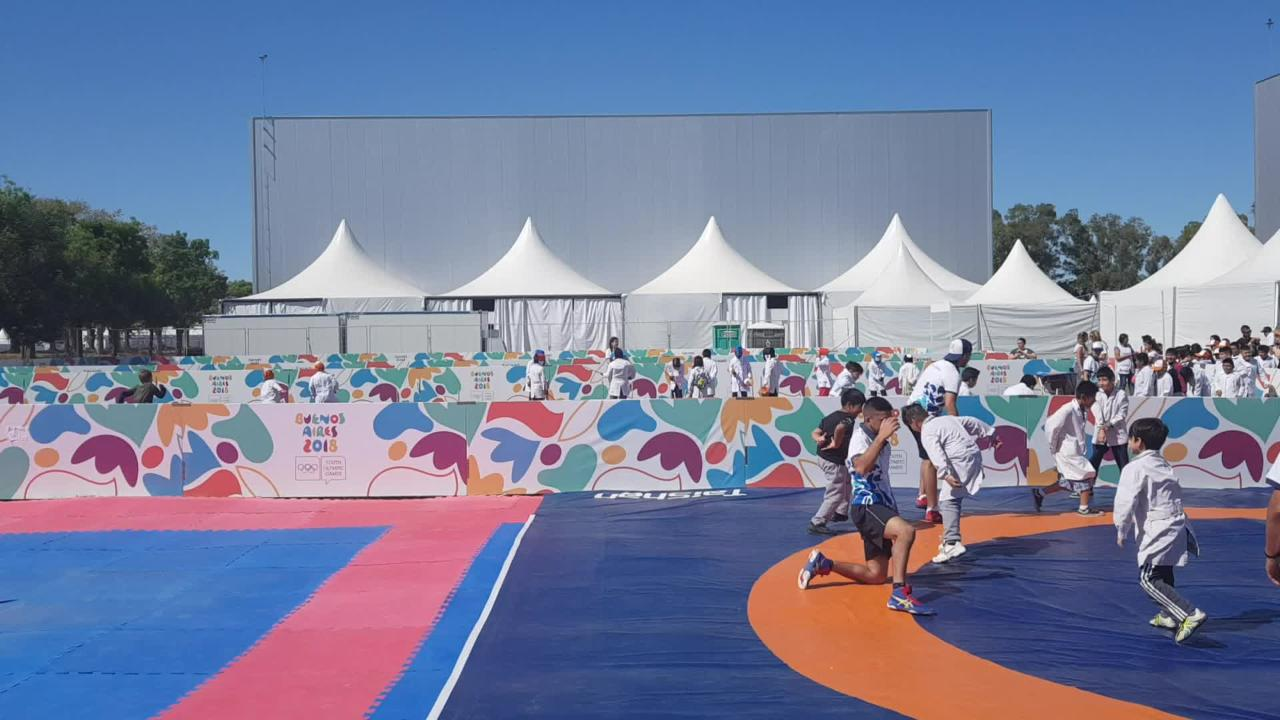 Kids learn sport at Youth Olympics