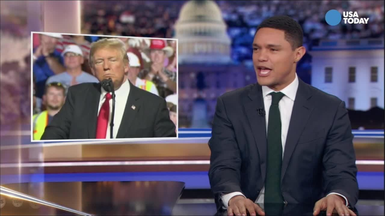 Trevor Noah breaks down Trump's reaction to  Warren's DNA test. Vote for your favorite joke at usatoday.com/opinion.