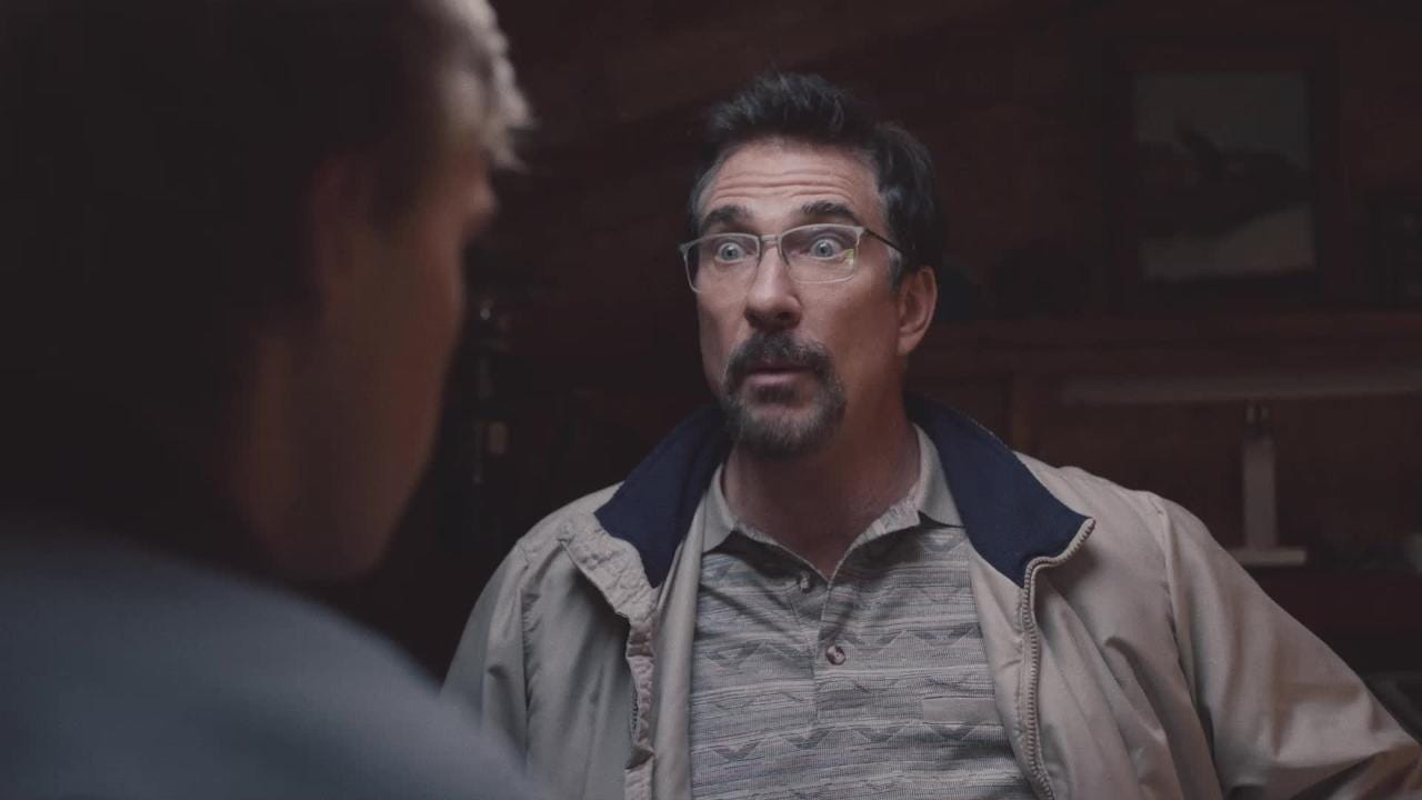 """Dylan McDermott stars as a straitlaced father and Charlie Plummer plays the son who thinks his dad may be a murderer in """"The Clovehitch Killer."""""""