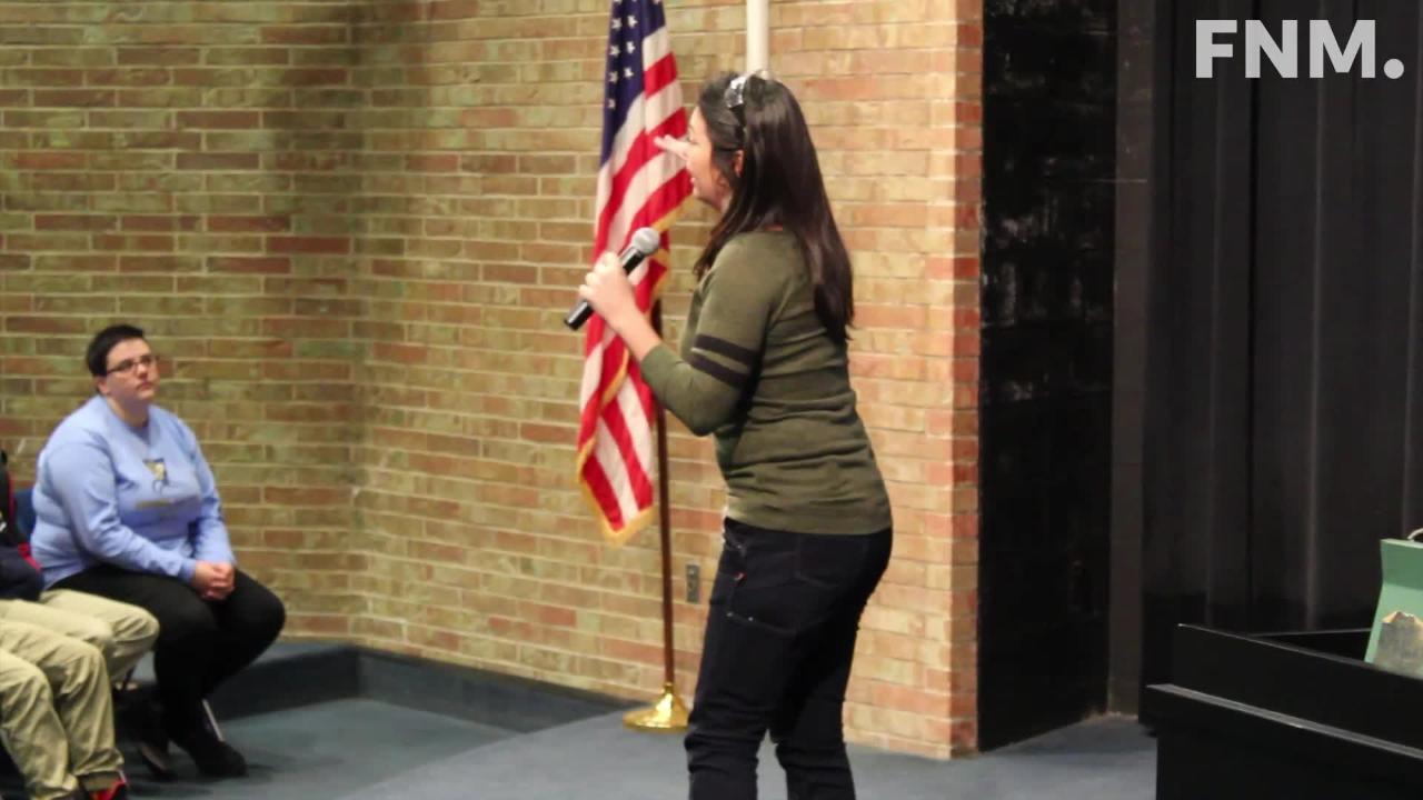 Kayleen McCabe talks TV, trade careers with Vanguard students