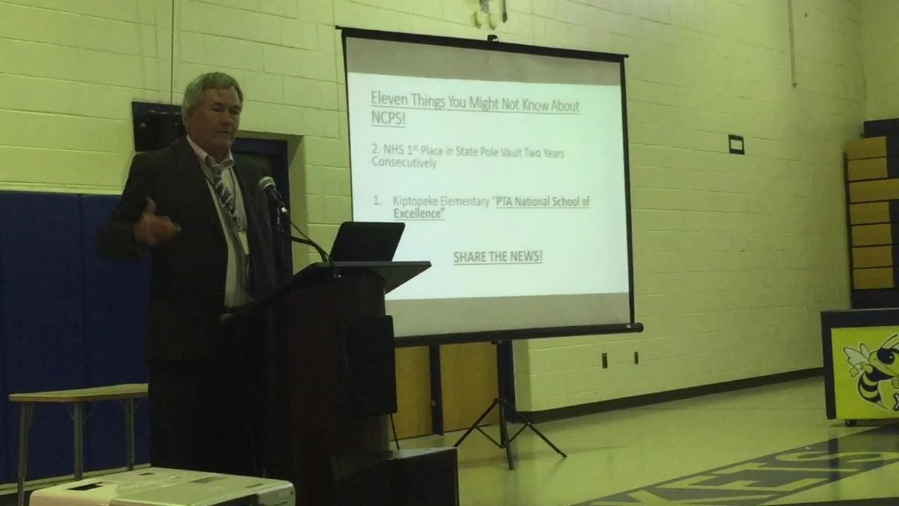 Northampton School Superintendent Eddie Lawrence speaks on schools' progress.