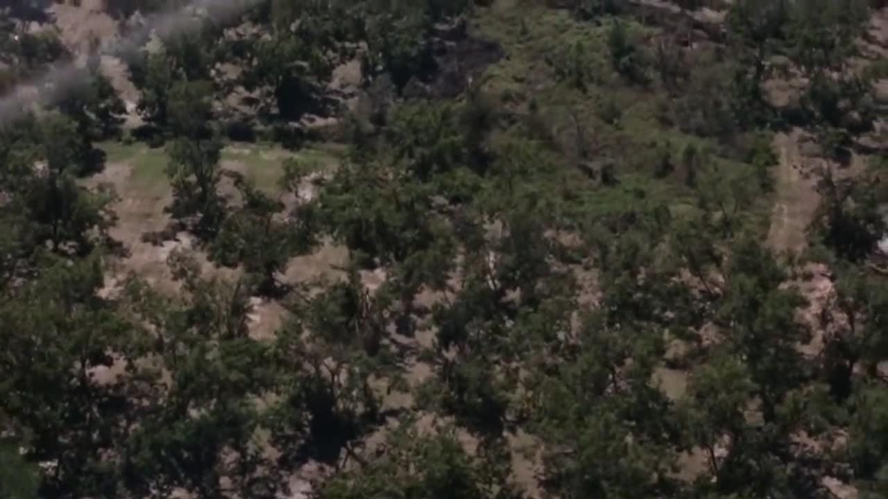 Flyover footage captured on October 12, 2018 shows destruction to Georgia poultry, pecans, peanuts, and cotton farms.