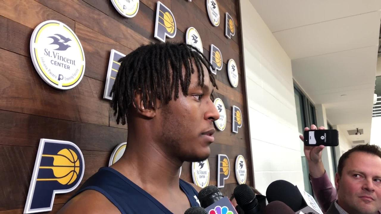 Pacers forward Myles Turners discusses contract extension