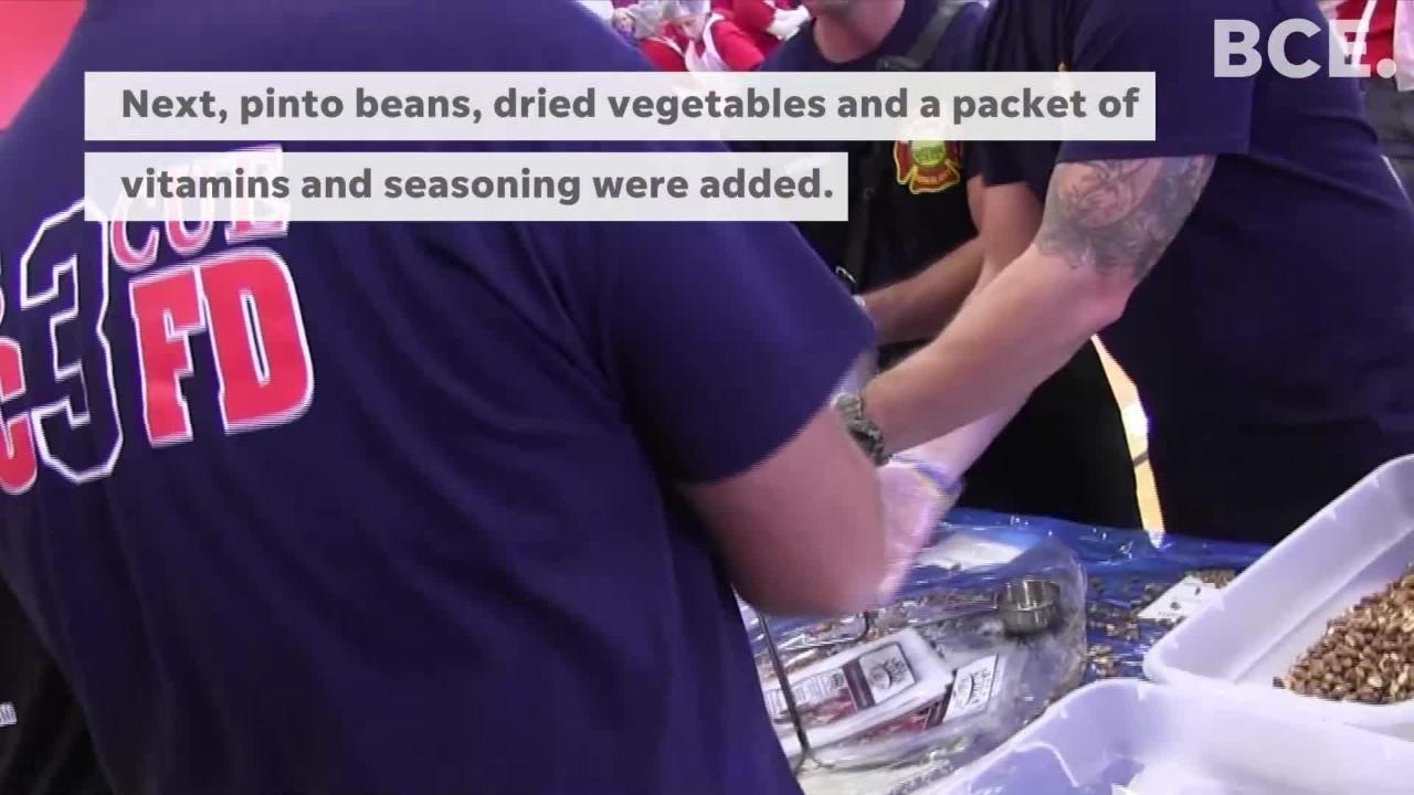 Battle Creek volunteers prepare 100,000 meals for local food banks in just 2 hours