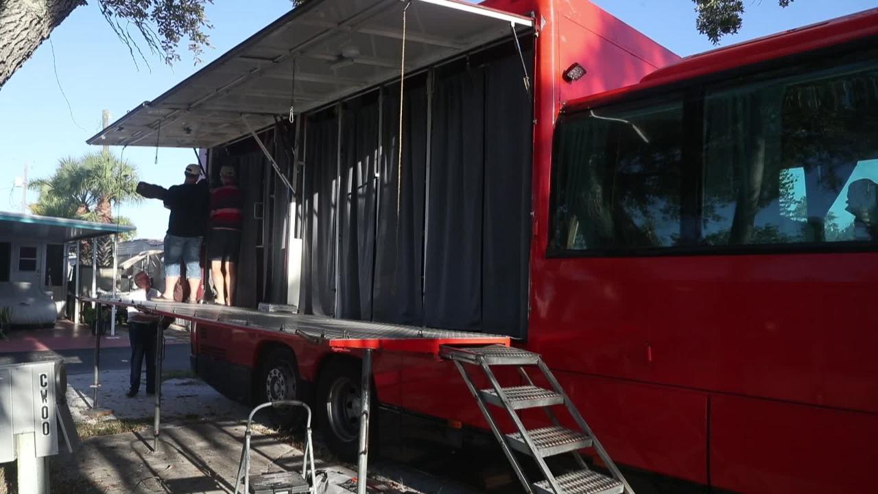 """Big red """"Rolling Hotel"""" makes stop on Fort Myers Beach and Sanibel"""