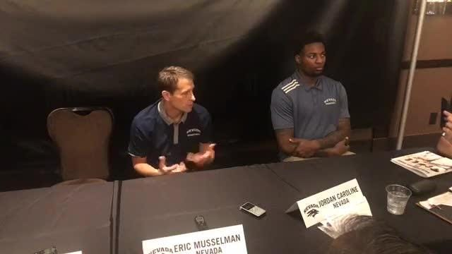 Nevada basketball coach Eric Musselman addresses the media at the Mountain West's annual basketball summit.