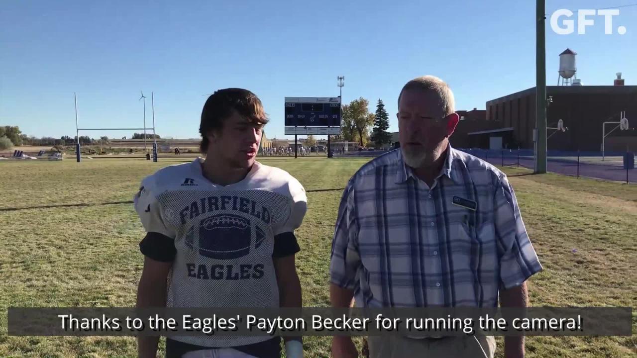 Fairfield QB/S Ryder Meyer takes the 100-yard walk with Tribune Sports Writer Lee Vernoy