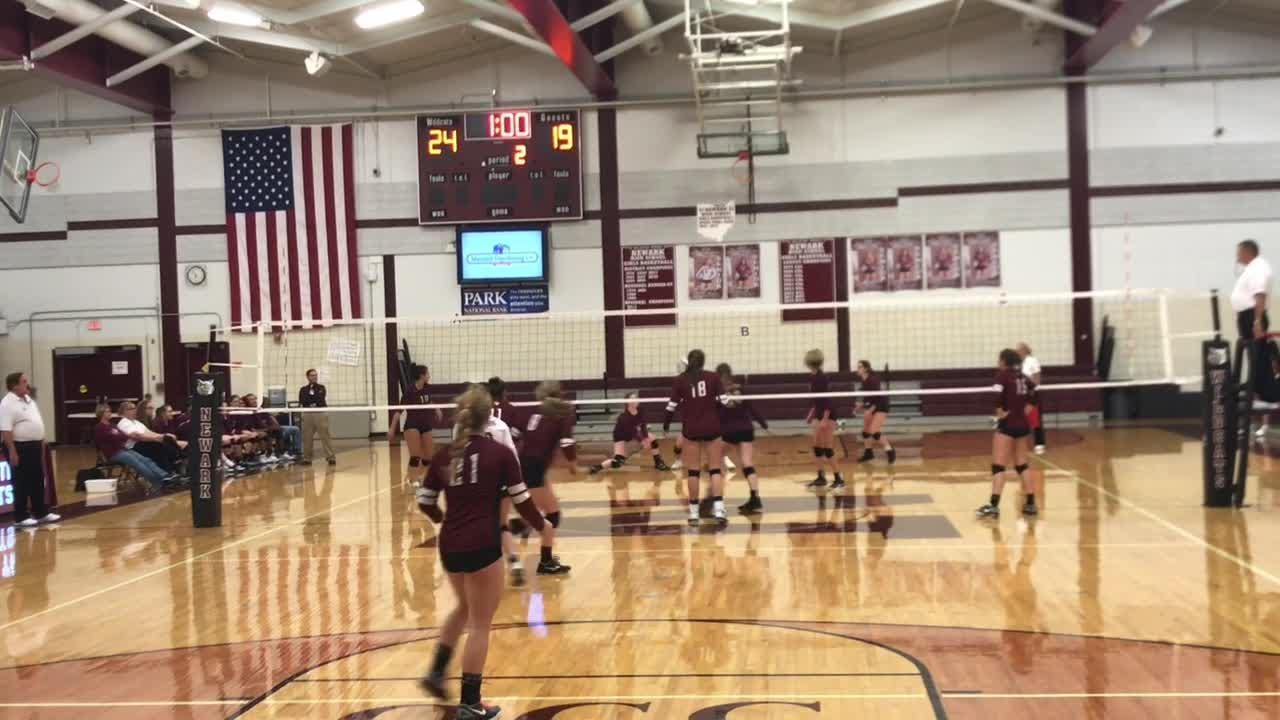 Newark volleyball beat Licking Heights in four sets in a Division I first-round match.