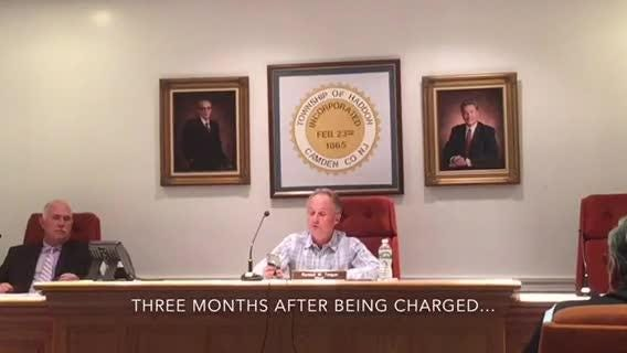 Haddon Twp. Commissioner Paul Dougherty has resigned almost three months after being charged with leaving the scene of an accident.