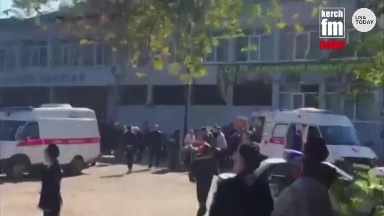 Authorities say that at least ten people have been killed and dozens injured as a result of an explosion at a vocational college in Kerch, Crimea.