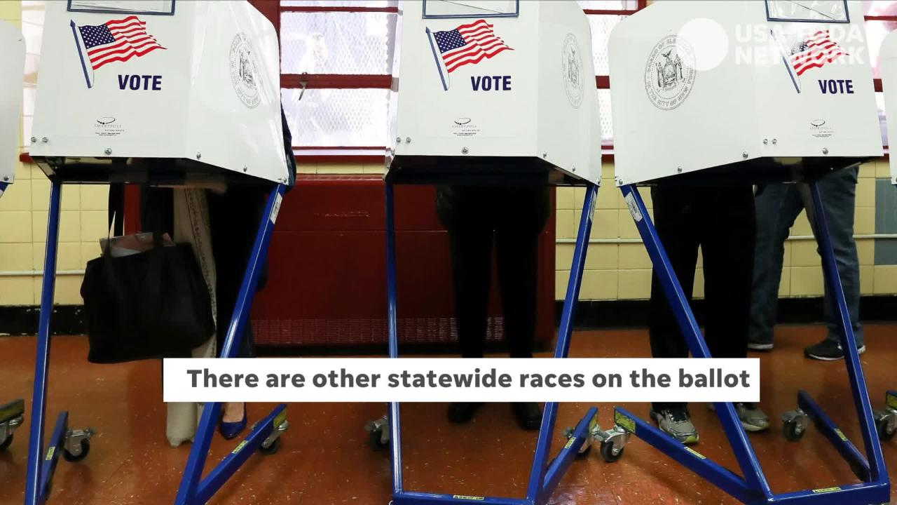A look at the statewide races on the ballot Election Day on Nov. 6, 2018.