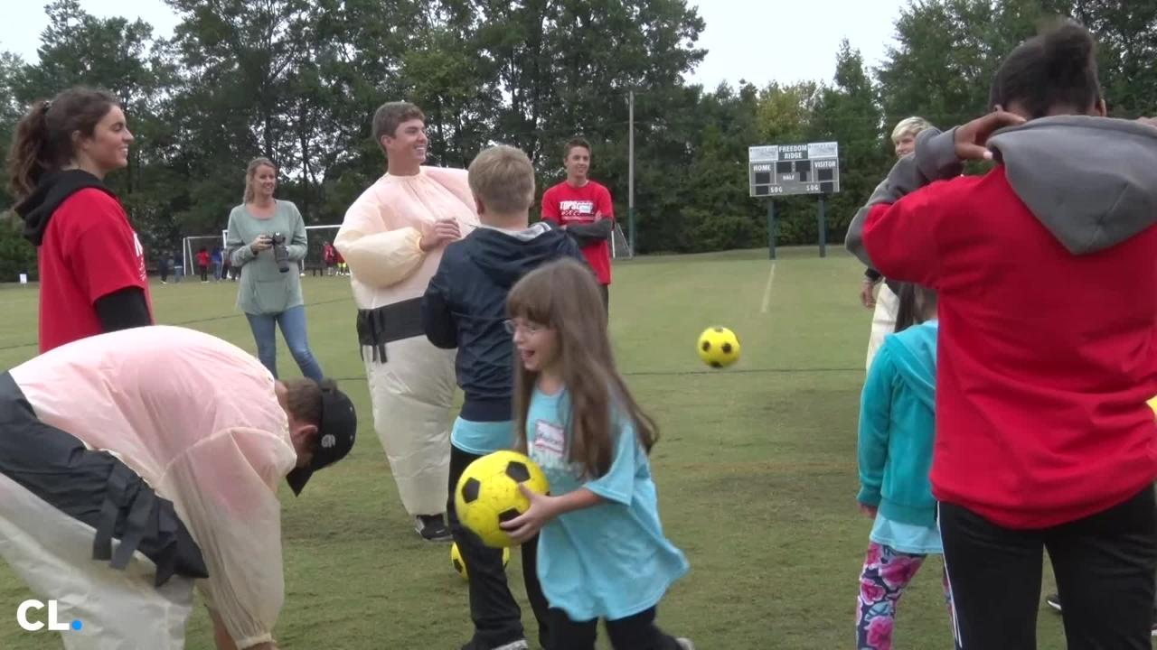 More than 300 special needs students from Rankin and Madison Counties took part in the Top Soccer Jamboree Wednesday morning.