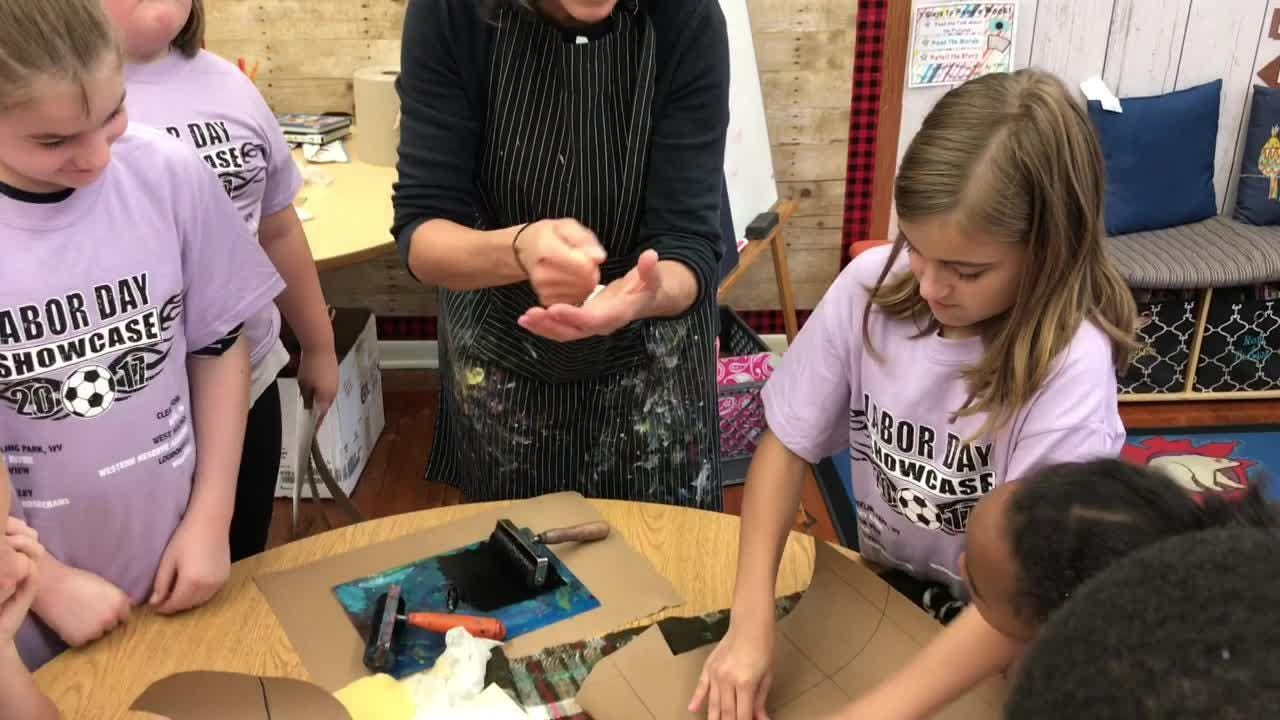 A $30,000 grant from the Ohio Arts Council has allowed curriculum at Keene Elementary to integrate art elements.