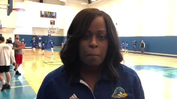 Delaware coach Natasha Adair reacts to CAA women's basketball preseason poll putting Blue Hens in tie for third place