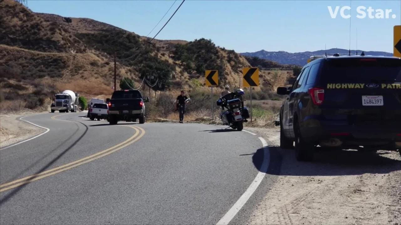 Two men suffer major injuries when Audi runs off Highway 33, north