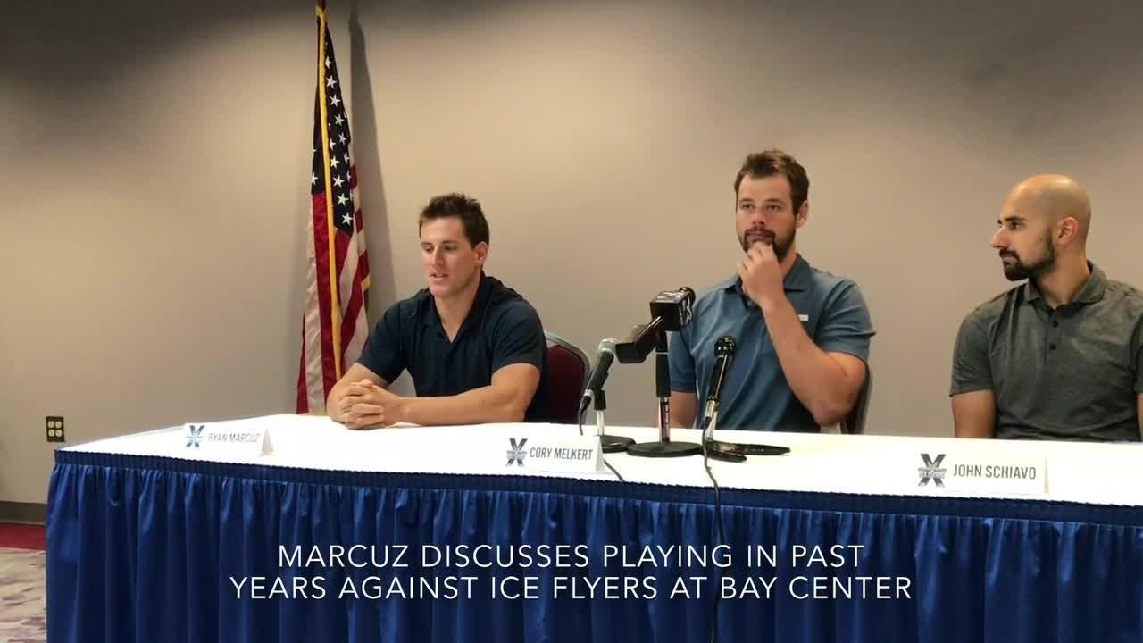 Pensacola Ice Flyers' Marcuz happy to be on 'good side'  of Bay Center benches after 5 years with RiverKings