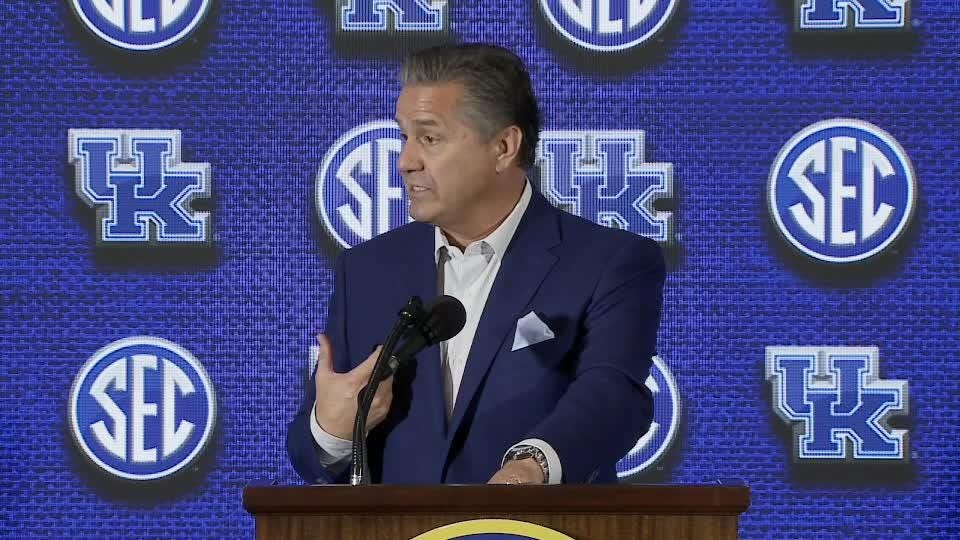 Kentucky basketball coach Calipari was speaking at Southeastern Conference Media Day.