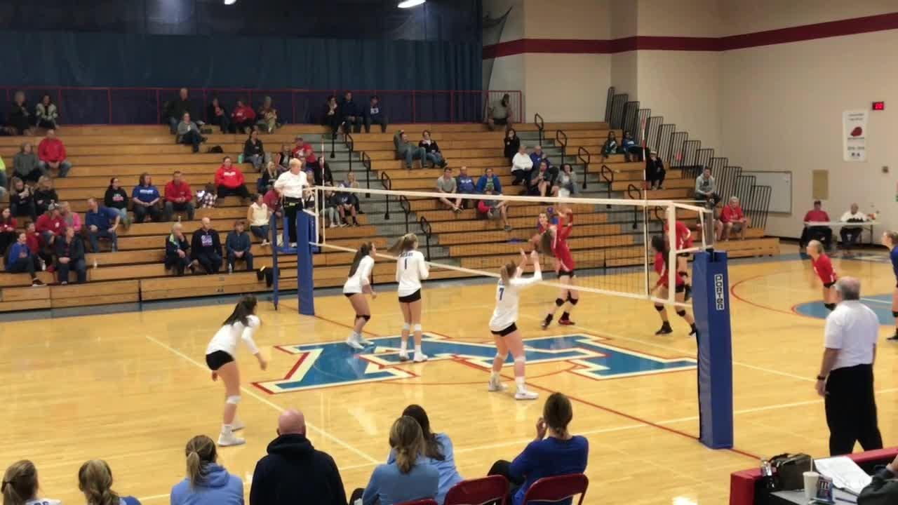 Licking Valley beat Olentangy Berlin in four sets to advance to the Division II district semifinals.