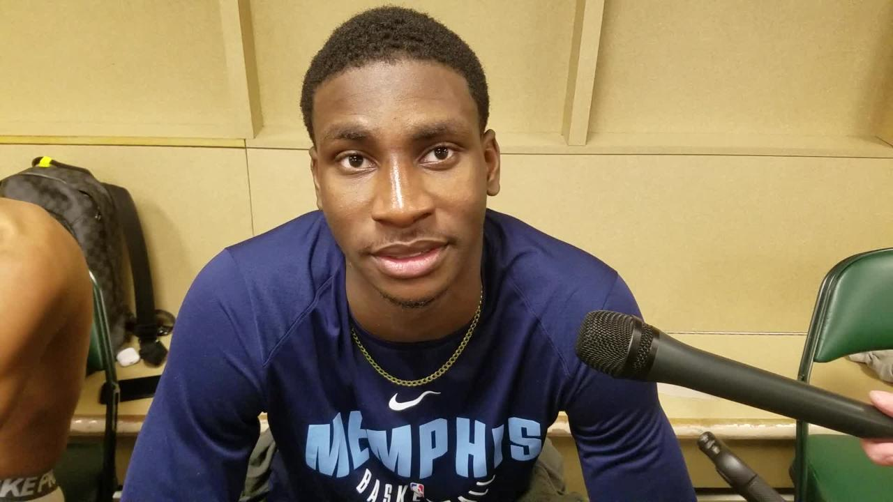 Grizzlies rookie Jaren Jackson Jr. talks about what he learned from his NBA debut.